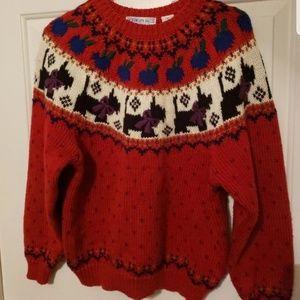 80s Vintage Scottie Dog Sweater